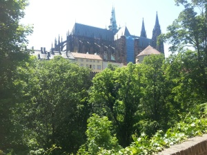 Blick auf die Kathedrale am Prager Schloss