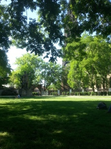 Park auf dem Vysehrad.
