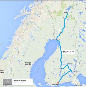 Finnland-Route